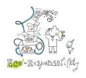 Eco Verantwortlichkeit, zeichnend Stockbild