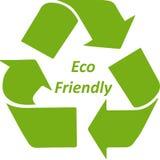 Eco verde amigável recicla o ícone do símbolo Fotos de Stock