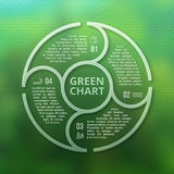 Eco verde della foresta infographic su fondo creativo regolare vago unfocused royalty illustrazione gratis
