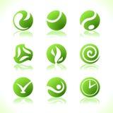 Eco verde dos símbolos Fotos de Stock