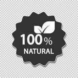 Eco verdissent le concept d'énergie, label naturel de 100 pour cent Illustration de vecteur Photos libres de droits