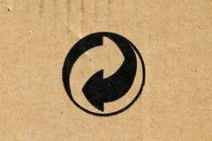 Eco-Verpakt symbool - Stock Afbeelding