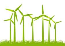Eco vindturbiner Fotografering för Bildbyråer