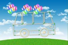 Eco vänlig buss Royaltyfri Fotografi