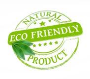 Eco vänlig stämpel Arkivbild