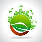 Eco vänligt begrepp i stads- avkänning Royaltyfri Foto