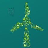 Eco Vriendschappelijk concept, sparen aardeconcept Stock Afbeeldingen