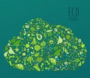 Eco Vriendschappelijk concept, sparen aardeconcept Royalty-vrije Stock Fotografie