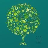Eco Vriendschappelijk concept, sparen aardeconcept Royalty-vrije Stock Afbeelding