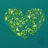 Eco Vriendschappelijk concept, sparen aardeconcept Stock Foto's