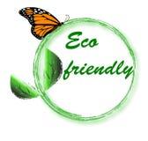 Eco vriendschappelijk embleem Stock Foto's