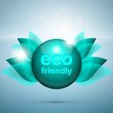 Eco vriendschappelijk embleem royalty-vrije illustratie
