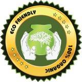 Eco vriendschappelijk Etiket Stock Afbeelding