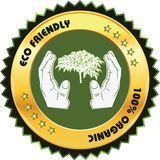 Eco vriendschappelijk Etiket Stock Afbeeldingen
