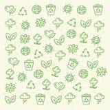 Eco vriendschappelijk patroon Stock Afbeeldingen