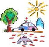 Eco vriendschappelijke groene auto Stock Afbeelding