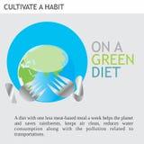 Eco Vriendschappelijke Ideeën op een groen dieet Stock Afbeeldingen