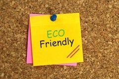 Eco vriendschappelijke kleverig stock foto