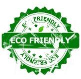 Eco vriendschappelijke zegel stock foto