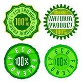 Eco vriendschappelijke zegel Stock Foto's