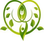 Eco władzy pojęcia logo ilustracja wektor