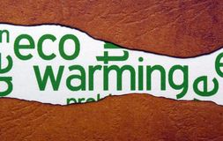 Eco warming concept Royalty Free Stock Photo