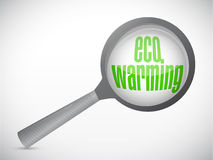 Eco warming under review illustration design Royalty Free Stock Photography