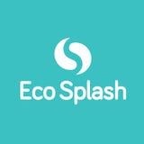 Eco-Wasser-Tropfen-Tröpfchen Ying Yang Splash Logo Lizenzfreie Stockfotos