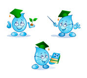 Eco water drop. Friendly water-drop cartoon character Stock Photo