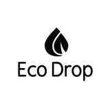 Eco Water Drop Droplet Leaf Splash Logo Stock Images