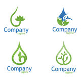 Eco Water drop leaf stock image