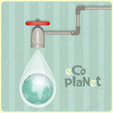 Eco water planet Royalty Free Stock Images