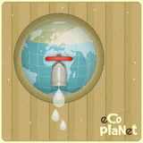 Eco water planet concept Stock Photography