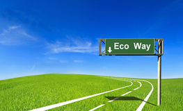Eco way Stock Image