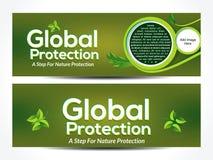 Eco web banner background Stock Image