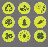 Eco web icons Stock Photography