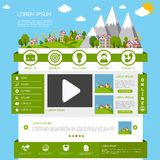 Eco website template Royalty Free Stock Photo