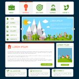 Eco website template Royalty Free Stock Photos