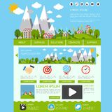 Eco website template Royalty Free Stock Image