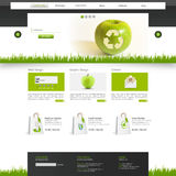 Eco Website Template Vector Illustration Stock Photography