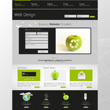 Eco Website Template Vector Illustration Royalty Free Stock Photo