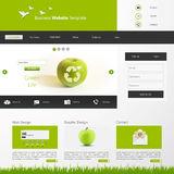 Eco Website Template Vector Illustration Royalty Free Stock Photos