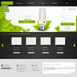 Eco Website Template for Your Business. Stock Images