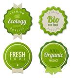 Eco Weinlese beschriftet Bioschablonenset Lizenzfreie Stockfotos