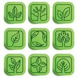 Eco wektorowe etykietki Zdjęcie Royalty Free