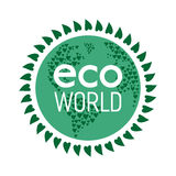 Eco-Weltkonzept Stockbild
