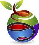 Eco-Weltlogo lizenzfreie abbildung