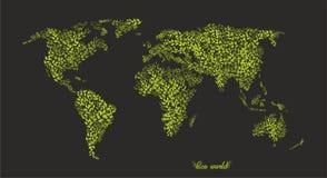 Eco Światowa mapa eps Obraz Royalty Free