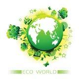 Eco światu logo Obraz Royalty Free
