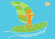 ECO-a Wind-Energie-Surfen Lizenzfreies Stockbild